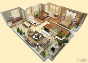 车城万达广场3室2厅2卫120平方米户型图
