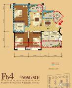 领地・国际公馆3室2厅2卫89平方米户型图