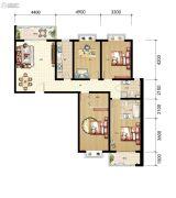 山海城邦・马街摩尔城4室2厅2卫166平方米户型图