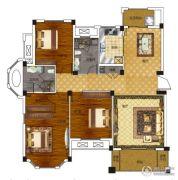 绿城百合新城3室2厅2卫140平方米户型图