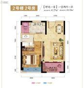 志龙观江�X1室2厅1卫41平方米户型图
