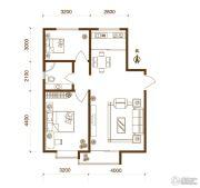 物华兴洲苑2室2厅1卫87平方米户型图