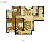 朗诗新郡3室2厅2卫139平方米户型图