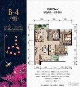 金辉城春上南滨2室2厅1卫76平方米户型图