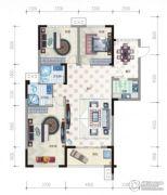 温泉纯水岸2室2厅2卫109平方米户型图