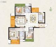 东宝康园3室2厅2卫124平方米户型图