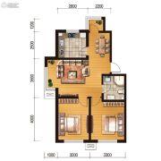 世百居・洪湖湾2室2厅1卫75平方米户型图