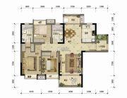 东方骏园3室2厅2卫110平方米户型图
