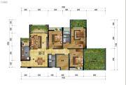 万象国际城3室2厅2卫138平方米户型图