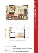 大唐世家2室2厅1卫62平方米户型图