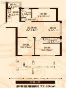 金瑞林城3室1厅2卫0平方米户型图