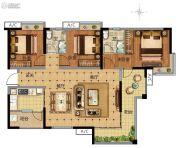 广州万达城3室2厅2卫118平方米户型图