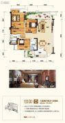 融恒时代广场3室2厅2卫0平方米户型图