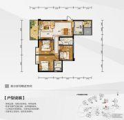 白金壹号3室2厅2卫109平方米户型图