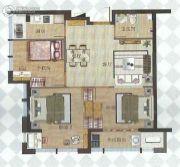 中融中央公馆3室2厅2卫83平方米户型图
