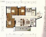 广佛颐景园4室2厅2卫126平方米户型图