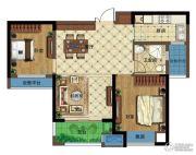 弘阳广场2室2厅1卫83平方米户型图