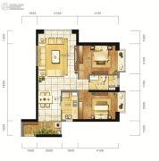 东方希望天祥广场天荟2室2厅1卫90平方米户型图