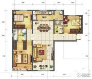 海亮滨河壹号3室2厅2卫143平方米户型图