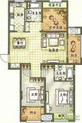 新城香溢紫郡2室2厅2卫120平方米户型图