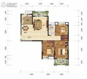 奥山世纪城3室2厅1卫107平方米户型图