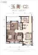 奥园・学府里3室2厅2卫111平方米户型图