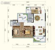 香槟小镇2室2厅2卫98平方米户型图