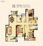 华润橡树湾4室2厅2卫122平方米户型图
