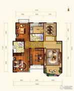 依云墅3室2厅2卫132平方米户型图