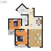 盛世观邸2室2厅1卫75平方米户型图