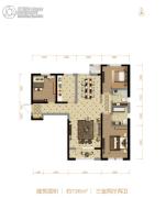 北大资源阅城3室2厅2卫136平方米户型图