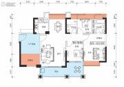 鑫月城3室2厅2卫110平方米户型图