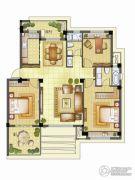 银亿璞园3室2厅2卫117平方米户型图