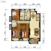 金地锦城3室2厅2卫130平方米户型图
