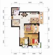 融城优郡3室2厅1卫89平方米户型图
