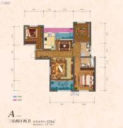 �|方米兰国际城3室2厅2卫123平方米户型图