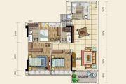 鸿福・翰城3室2厅2卫106平方米户型图