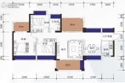 邦民华家园3室2厅1卫108平方米户型图