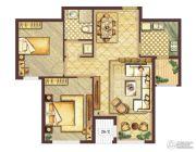 会展城上城2室2厅1卫0平方米户型图