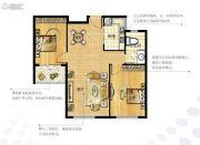 越秀星汇金沙2室2厅1卫80--81平方米户型图