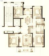 中梁首府壹号院4室2厅2卫129平方米户型图