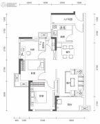 万林湖9期3室2厅1卫89平方米户型图