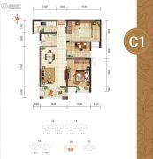 幸福湾3室2厅1卫95平方米户型图