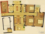长顺滨江皇冠4室2厅2卫169平方米户型图