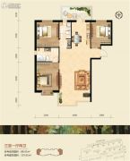 恒祥空间3室1厅2卫0平方米户型图