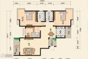 富绅世纪山江3室2厅2卫0平方米户型图