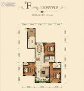 和兴文园3室2厅2卫141平方米户型图