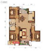 润德天悦城3室2厅2卫127平方米户型图