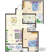新美城上领地2室2厅1卫96平方米户型图