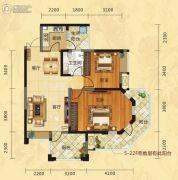 福庆花雨树2室2厅1卫93平方米户型图